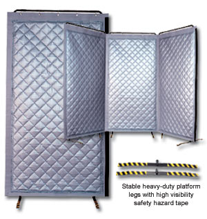 Beautiful Portable Quilted Fiberglass Noise Reduction Screen