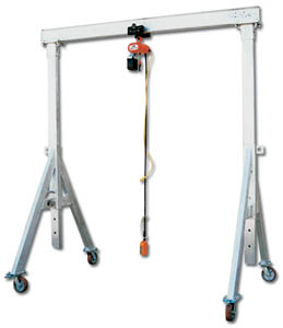 Aluminum gantry cranes for Shop hoist plans