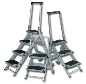 THREE STEP STOOLS LITTLE JUMBO HEAVY DUTY STEPLADDERS  sc 1 st  Ladders - Material Handling Solutions LLC : heavy duty step stools - islam-shia.org