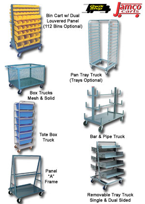 Rugged Heavy Duty Storage Carts At Material Handling