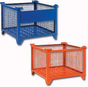wire mesh containers - Metal Storage Bins