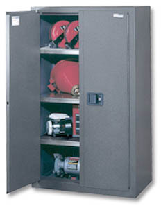 GUARD MASTERâu201e¢ HEAVY-DUTY HEAVY LOAD STORAGE CABINETS 1000 LBS CAPACITY PER SHELF & Industrial Storage cabinets Heavy Duty Storage Cabinets