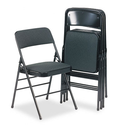 Bridgeport™ Deluxe Padded Seat And Back Folding Chair