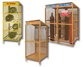 Gas Cylinder Storage Cabinets Safely Lp Tanks Clinders