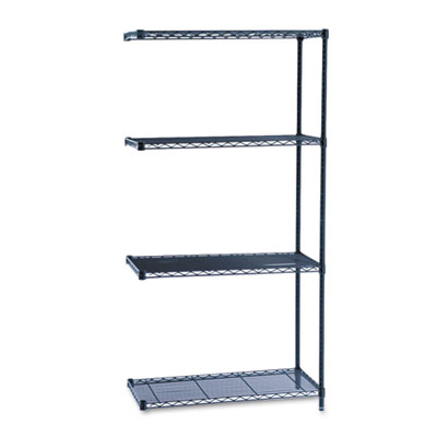 Safco industrial wire shelving add on kit at material for Online shelf design tool