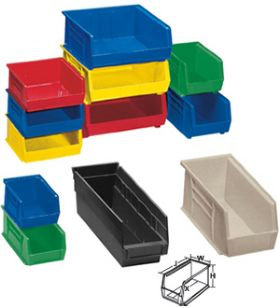 COLORED U0026 RECYCLED PLASTIC STORAGE BINS Idea
