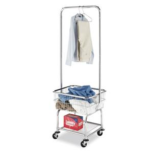 Whitmor Laundry Cart With Double Pole Rack